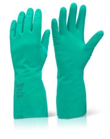 Green Nitril-Chemikalienschutzhandschuhe