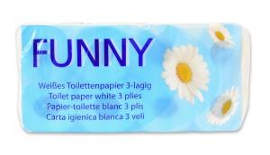 Toilettenpapier 3-lg. Zellstoff, 250 Blatt, 72 Rollen