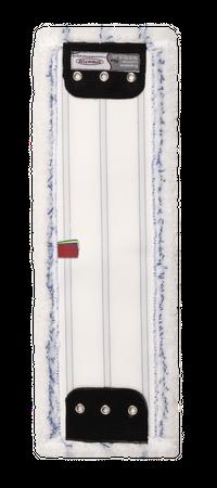 Sprintus Premium Mikrofasermopp 40 cm, weiß/blau mit Laschen (VE = 75 Stück) – Bild 2