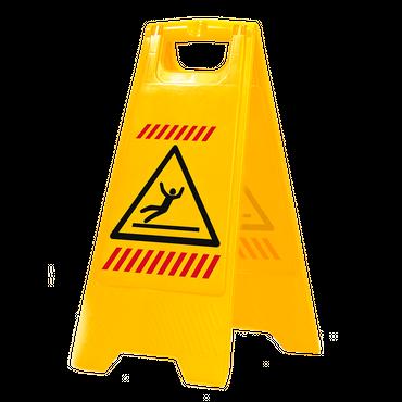 Sprintus Warnschild mit sprachneutraler Symbolik     (VE = 10 Stück)