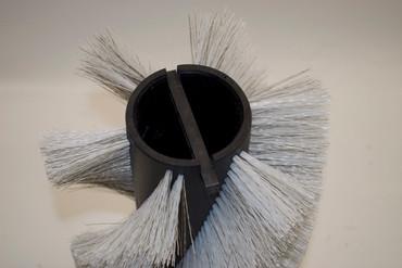 Bürstenwalze für Electrolux 900, Poly 0,7 mm gewellt weiß gemischt mit Welldraht 0,4 mm verzinkt – Bild 4