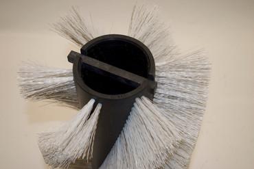 Bürstenwalze für Floor Practica 1000, Poly 0,7 mm gewellt weiß gemischt mit Welldraht 0,4 mm verzinkt – Bild 3