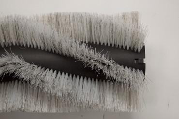 Bürstenwalze für Gutbrod B 1000, Poly 0,7 mm gewellt weiß gemischt mit Welldraht 0,4 mm verzinkt – Bild 2
