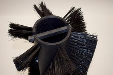 Bürstenwalze für Gutbrod B 1000 Nylon 0,6 mm glatt schwarz  – Bild 3
