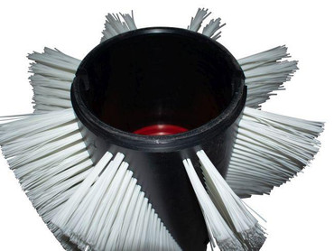 Bürstenwalze für Hako Armadillo 9 Nylon 1,0 mm glatt weiß – Bild 4