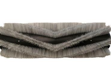 Bürstenwalze für Hako Hakomatic 1800 Poly 0,45 glatt weiß / Welldraht 0,4 verzinkt – Bild 1