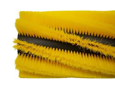 Bürstenwalze für Hako Hakomatic B 1100 / 1100 ES, Poly 0,5 mm gewellt gelb, Walze Walzenbürste Kehrwalze – Bild 5