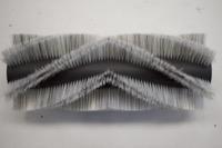 Bürstenwalze für Tecnova TK 1000 / Bianca, Poly 0,7 mm gewellt weiß gemischt mit Welldraht 0,4 mm verzinkt – Bild 1