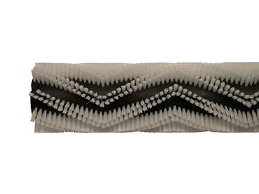Bürstenwalze für RCM Jumbo 872 Reihen spiralförmig, Poly 0,6 mm glatt weiß  – Bild 5