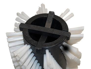 Bürstenwalze für RCM Reihen spiralförmig-862 R, Poly 0,6 mm glatt weiß  – Bild 3