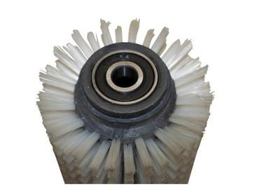 Bürstenwalze für Nilco BA 18-33 B Nylon 0,4 mm glatt weiß  – Bild 4