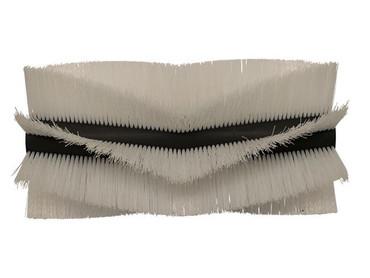 Bürstenwalze für Amros 460, Poly 0,7 mm gewellt weiß  – Bild 1
