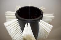 Bürstenwalze für Power-Boss Armadillo SW 10 Nylon 1,5 mm glatt weiß  – Bild 4