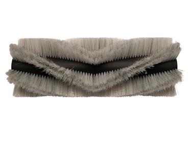 Bürstenwalze für Dulevo 1100, Poly 0,7 mm gewellt weiß gemischt mit Welldraht 0,4 mm verzinkt – Bild 1