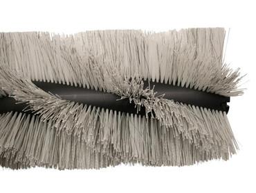 Bürstenwalze für Kenter Sweep 120 AHD, Poly 1,6 mm gewellt weiß gemischt mit Welldraht 0,5 mm verzinkt – Bild 2