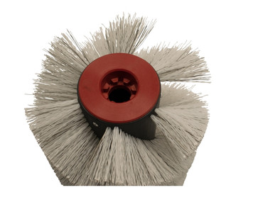 Bürstenwalze passend für Gansow 105 Poly 1,0 glatt weiß / Welldraht 0,4 verzinkt – Bild 3